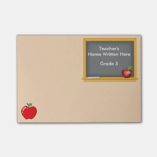 Personalised Post-it Notes - Chalkboard and Apple