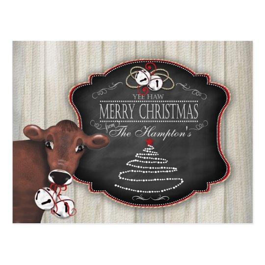 Personalised Postcard Merry Christmas Jingle Bells