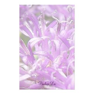 Personalised Pretty Lavender Wild Flowers Stationery