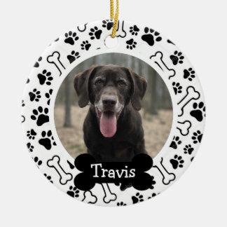 Personalised Puppy Dog Pet Photo Ceramic Ornament