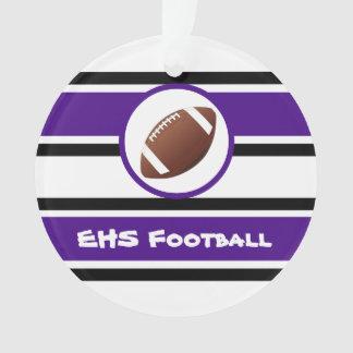 Personalised Purple and Black Football Ornament