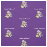 Personalised Purple Fabric Happy Halloween Witch