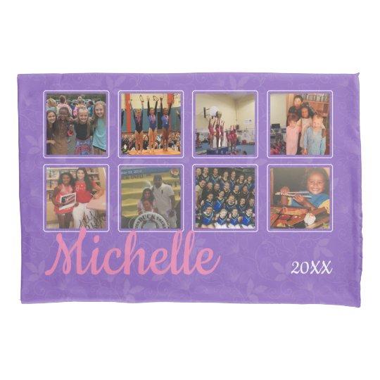 Personalised Purple Photo Pillowcase