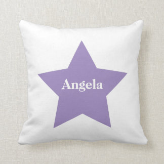 Personalised Purple Star. Purple Star Collection Cushion