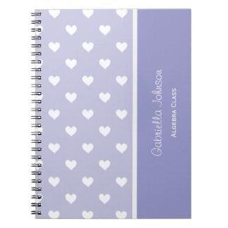 Personalised: Purple Sweetheart Notebook