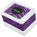 Personalised Purple Zebra Pattern Monogrammed Esky