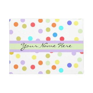 Personalised Rainbow Confetti for Her Doormat