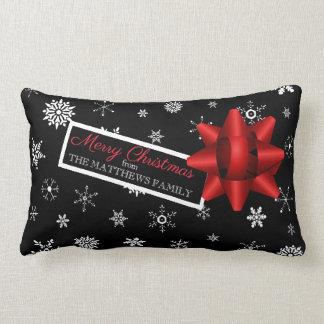 Personalised Realistic Simulated Christmas Gift Lumbar Cushion