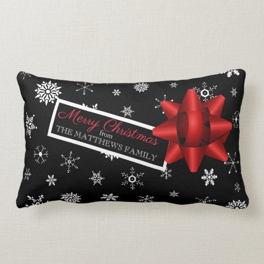 Personalised Realistic Simulated Christmas Gift Lumbar Cushion