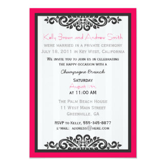"Personalised Reception Brunch Invite with RSVP 5"" X 7"" Invitation Card"
