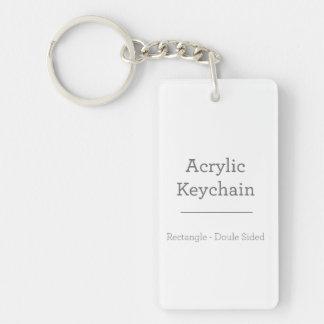 Personalised Rectangular Keychain