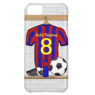 Personalised Red and blue football soccer Jersey iPhone 5C Covers