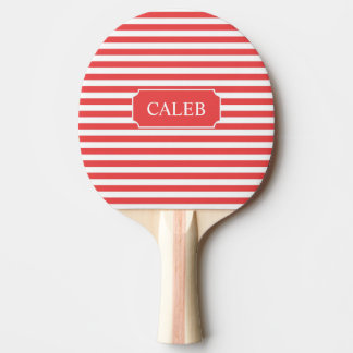 Personalised Red Stripe Ping Pong Paddle