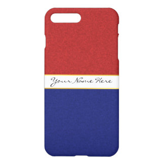 Personalised Red, White and Blue Stripes iPhone 8 Plus/7 Plus Case