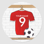 Personalised Red White Football Soccer Jersey
