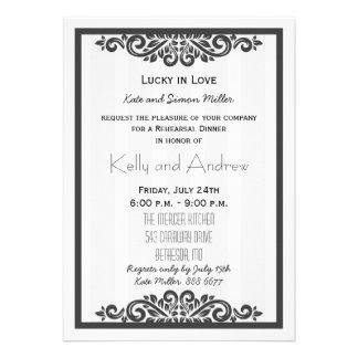 Personalised Rehearsal Dinner Invitation