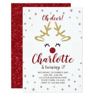 Personalised Reindeer Invitation