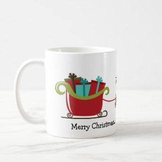 Personalised Reindeer Sleigh Mug