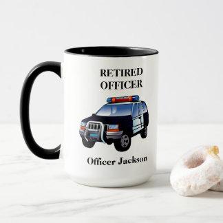 Personalised Retired Police Officer Coffee Mug