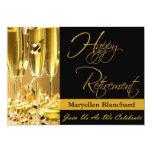 Personalised Retirement Party Invitation 13 Cm X 18 Cm Invitation Card