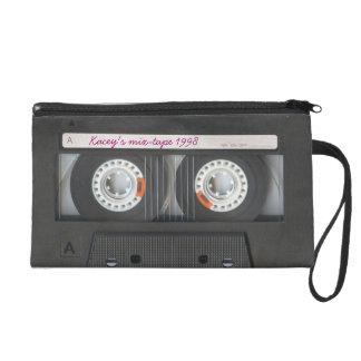 Personalised Retro Cassette mix-tape Tape Wristlet Purses