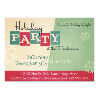 Personalised Retro Holiday Party Invitation