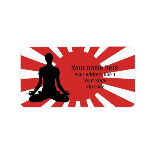 Personalised Rising Sun Yoga 4 meditation Label