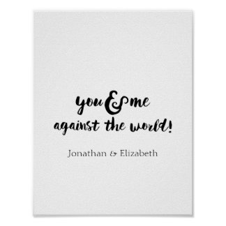 Personalised Romantic Typographical Print