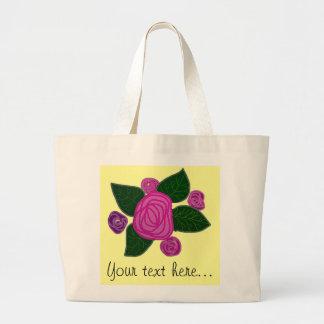Personalised Rose Design Jumbo Tote