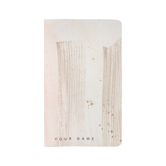 Personalised Rose Gold Splash Effect Notebook
