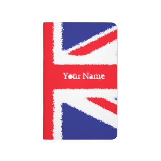 Personalised Rough edge Union Jack Journals