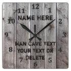 Personalised Rustic Man Cave Clocks for Him