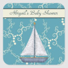 Personalised Sailboat Baby Shower Stickers
