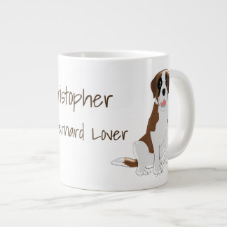Personalised Saint Bernard Design Large Coffee Mug