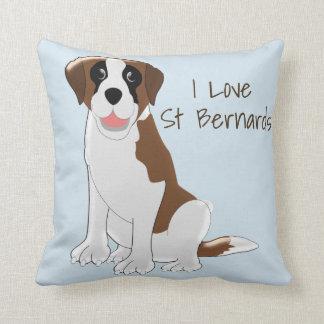 Personalised Saint Bernard Design Throw Pillow