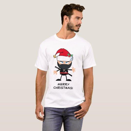 Personalised Santa Claus Ninja Warrior T-Shirt