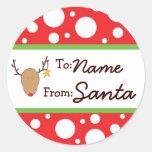 Personalised Santa Gift Sticker