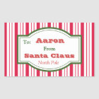 Personalised Santa Gift Tag Stickers