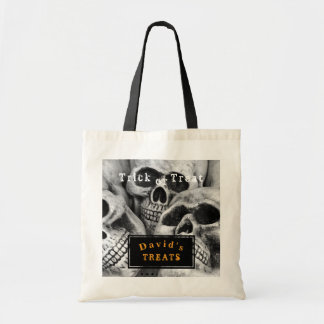 Personalised Scary Skull Heads Halloween Bag