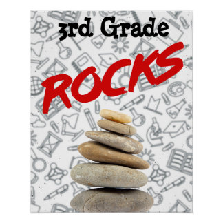 "Personalised Schoolroom Poster - 3rd Grade ""Rocks"""