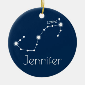 Personalised Scorpio Constellation Ornament