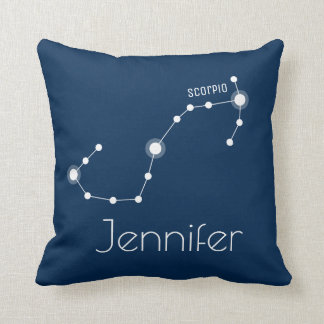 Personalised Scorpio Zodiac Constellation Cushion