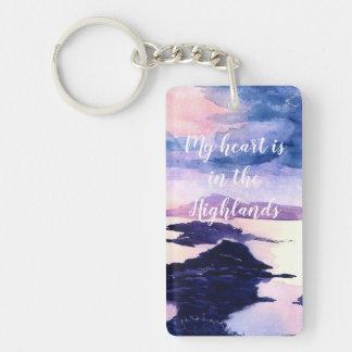 Personalised Scottish Watercolour Key Chain