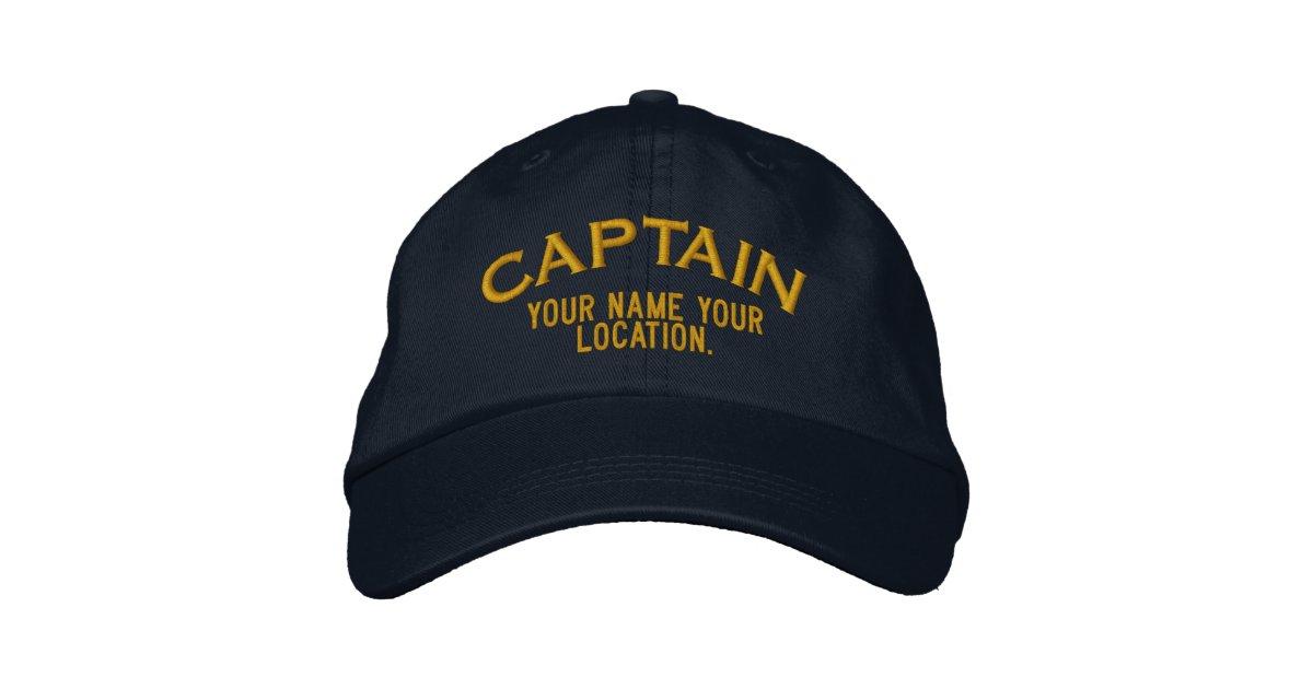 ab6bd5deb4 Personalised Sea Captain Hat