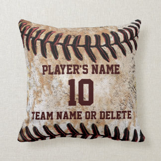 Personalised Senior Baseball Player Gift Ideas Throw Pillow