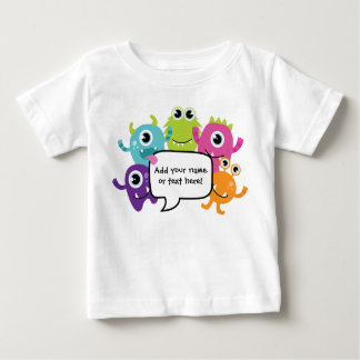 Personalised Shirt/Romper - Little Monster Design Baby T-Shirt