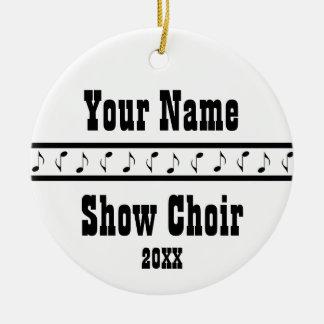 Personalised Show Choir Music Ornament Keepsake