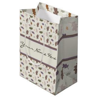 Personalised Showers of Colourful Oak Leaves Medium Gift Bag
