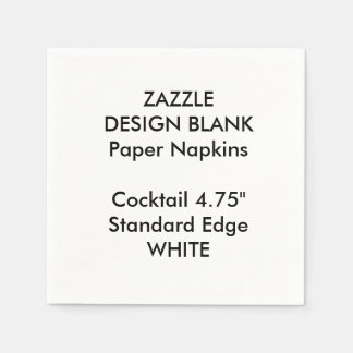 Personalised Small WHITE Cocktail Paper Napkins