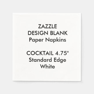 Personalised Small WHITE Cocktail Paper Napkins Disposable Napkin